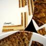 Assiettes Arman- détail signature