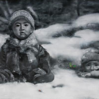 2006-deux-enfants-avec-joue