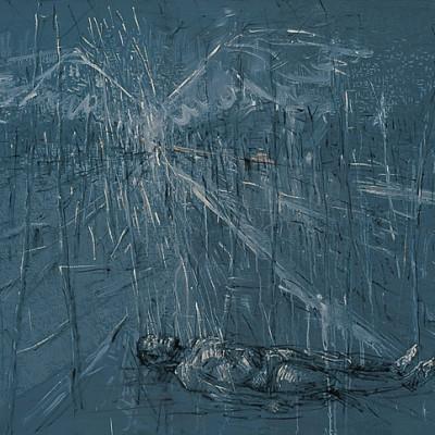 Fly over the end, 2007, Acrylic on Canvas, 120 x 200 cm