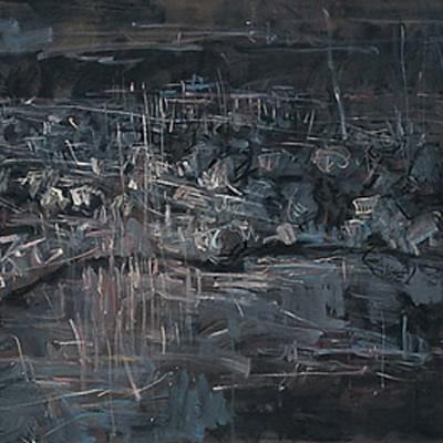 Journey, 2007, Acrylic on Canvas,100x300cm