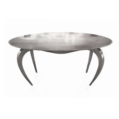 TABLE GOUTTE D'EAU – Plateau à Spirale inox