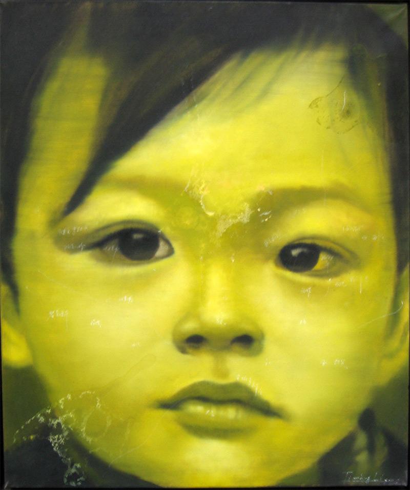 portrait-fille-jaune-55x46