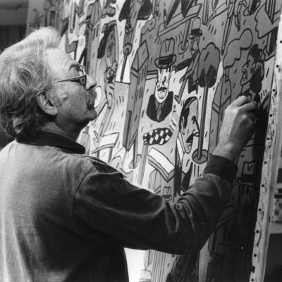 Antonio-Seguí,-atelier-Arcueil-France1997©Mariano-Garate