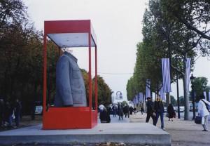 Champ de la sculpture en 1999 sur les champs-élysées