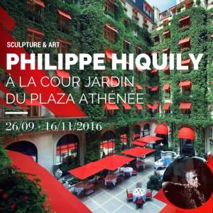 PHILIPPE HIQUILY À LA COUR JARDIN DU PLAZA ATHÉNÉE -