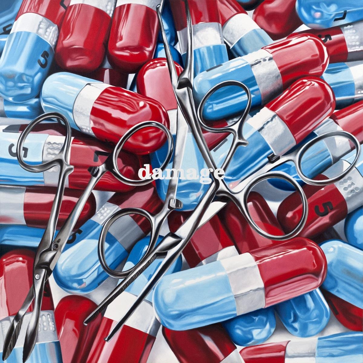 Damage Control Surgery_2012-huile sur toile-120x120cm