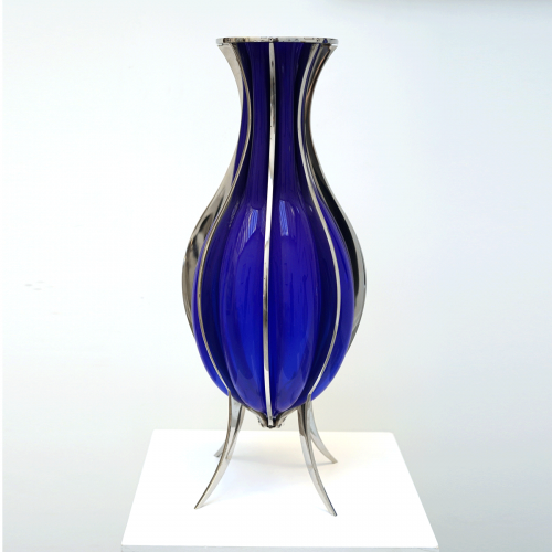 Vase Bleu Inox