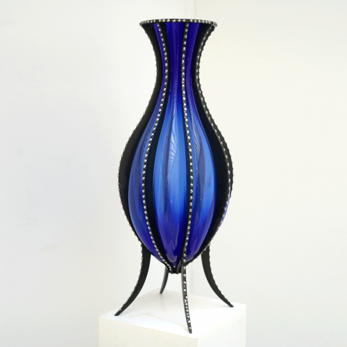 Vase Bleu Noir